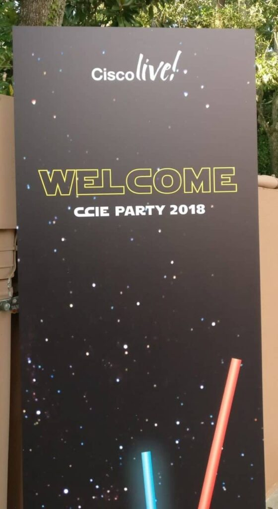 CCIE Party Welcome Sign.