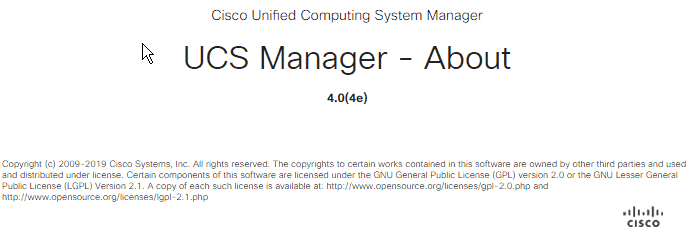 UCS Manager Old Version