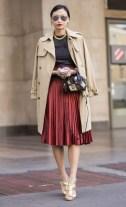 Red Velvet DKNY Skirt