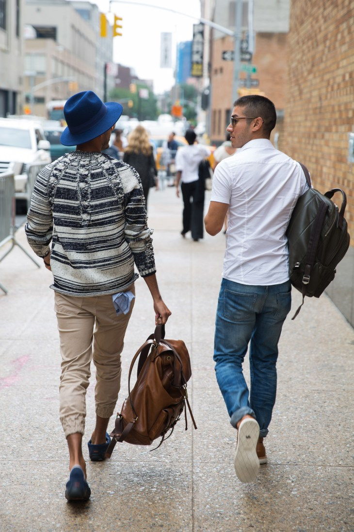 Jorge Gallegos and Saul Carrasco photographed leaving NYFW: Men's (Photo Ignis Terram)