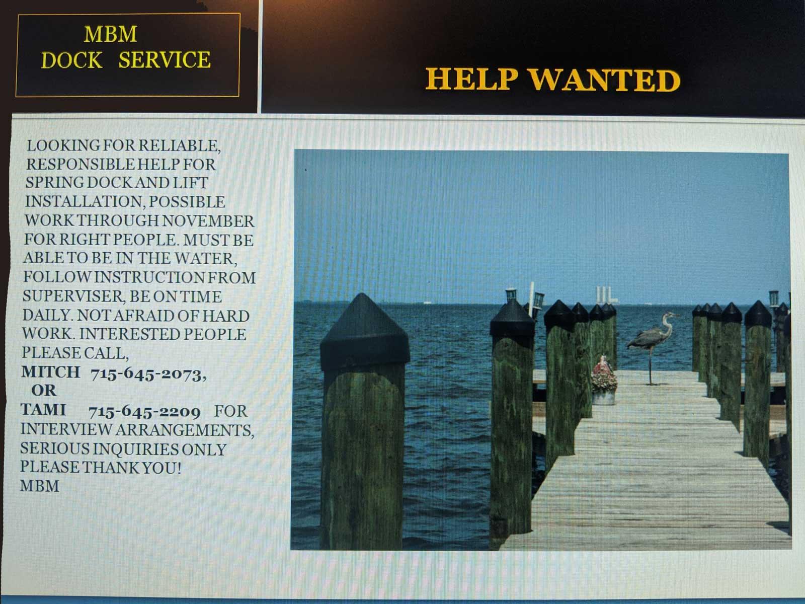 mbm dock service