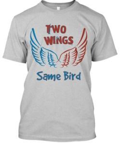 Politics Two Wings Same Bird Light Tee Image