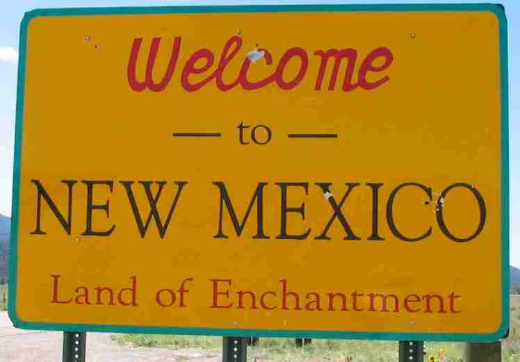 new mexico sign welcome to