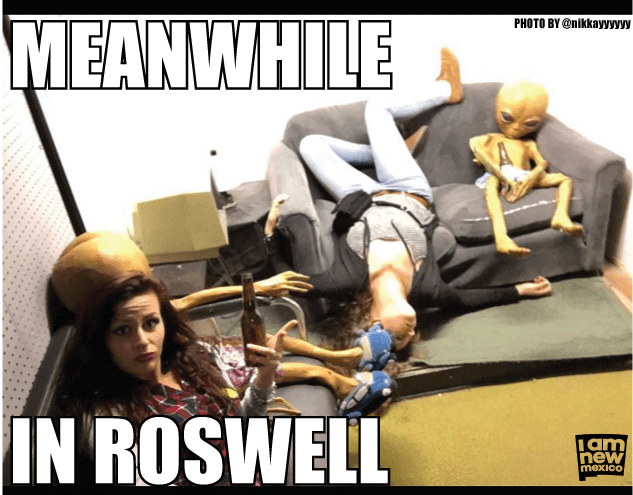 meanwhile in roswell