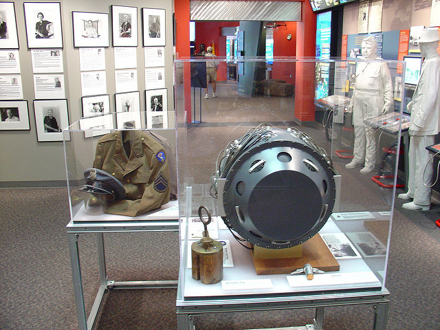 A view of some of the exhibits inside the Bradbury Science Museum in Los Alamos, New Mexico / Photo by Flickr User Jeff Keyzer