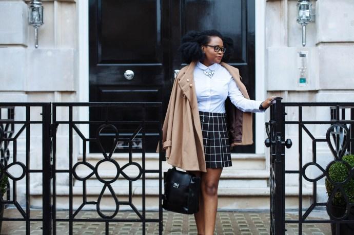 NEXT Check kilt skirt, NEXT peter pan collar shirt,, Kilt Skirt