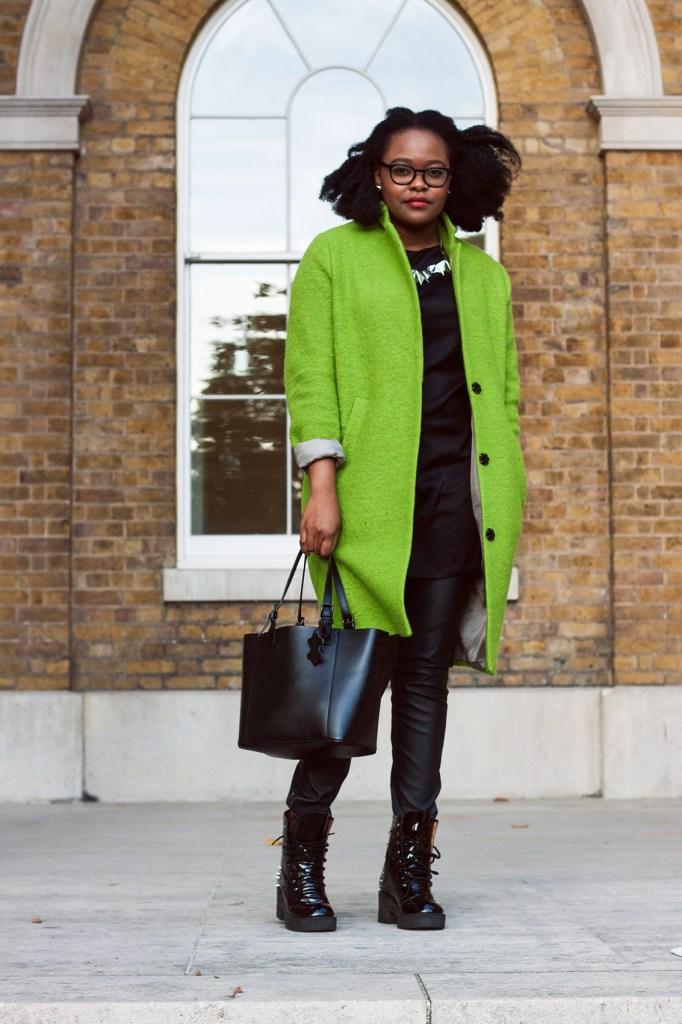 Green Topshop Coat