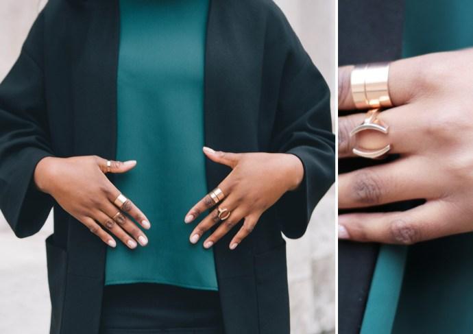 Rose Gold Rings, Claudia Ligari