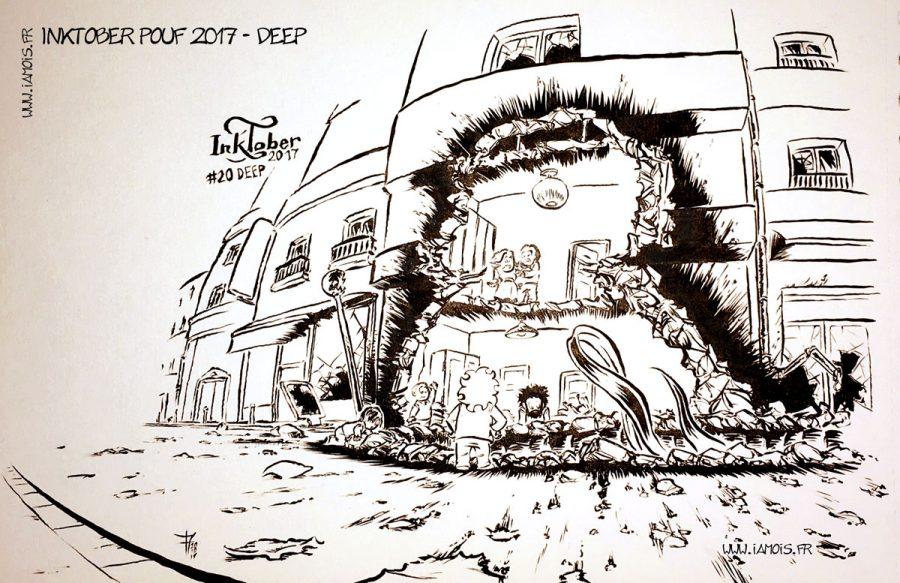 Inktober Pouf 2017 #20 Deep - auteur : iamo'i's