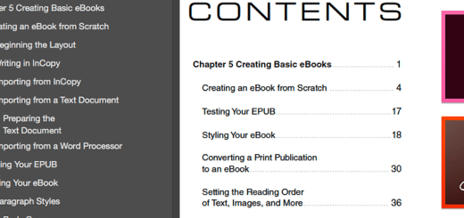 InDesign to PDF: Creating Separate TOCs for Bookmarks and the Page