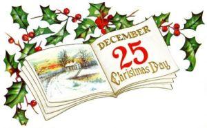 Christmas calendar vintage