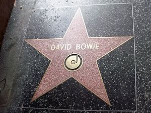 David Bowie's star at Holywood.