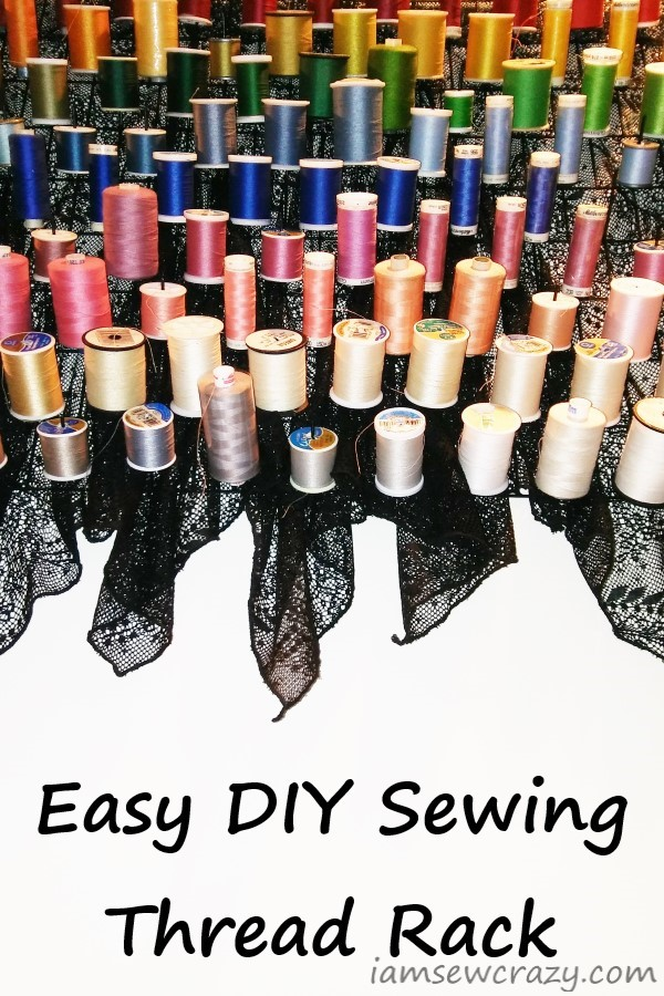 make your own sewing thread rack i am