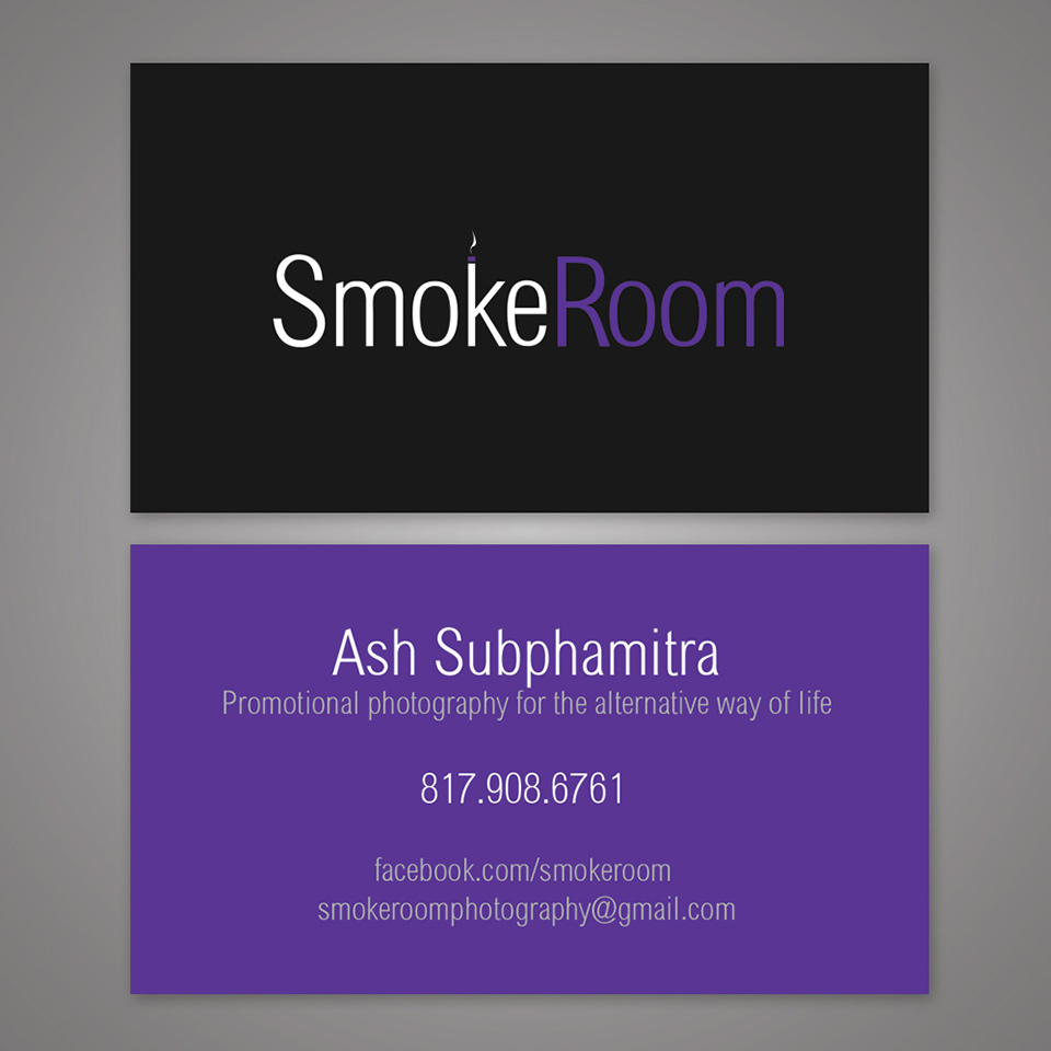 smoke-room-business-card-design