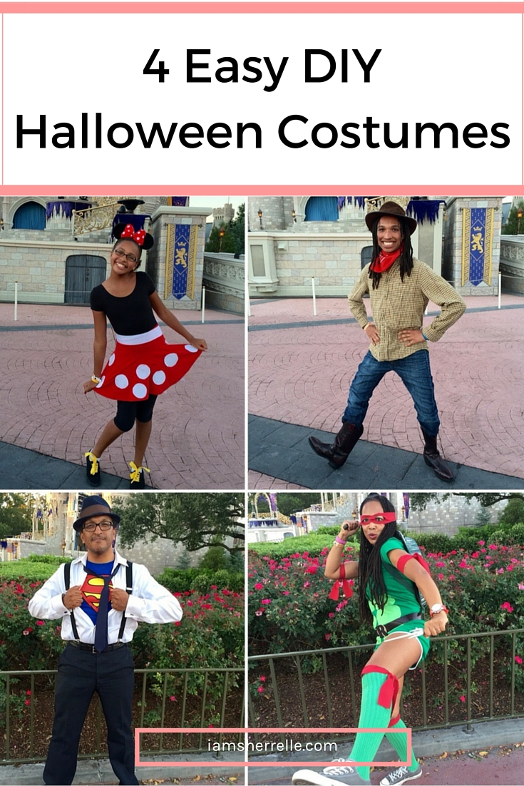How to make 4 easy DIY Halloween costumes. - Sherrelle