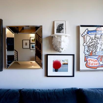 how to design an art gallery wall - living room -http://iamsherrelle.com