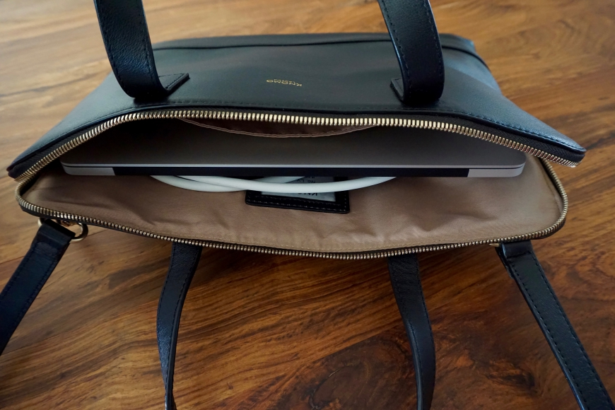 Knomo stylish laptop bag - inside