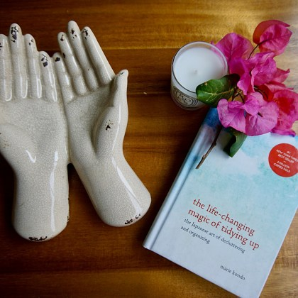 Marie Kondo taught me that a tidy home is less about the how and more so about the why. Learn how to let joy and gratitude be your guide to the magic art of tidying up. #mariekondo #konmari #organizing #home #decor #sparkjoy