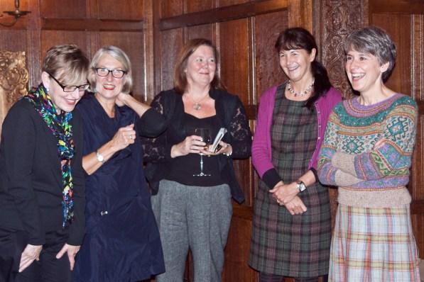 Tutors and sponsors Marie Wallin & Kate Buller from Rowan Yarns