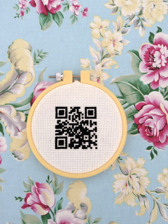 Fully working Cross Stitched QR Code