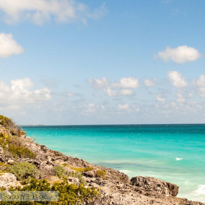 azul mar cielo playa tulum mexico