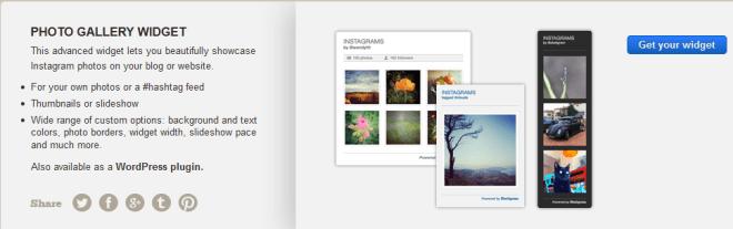 instagram photo gallery widget