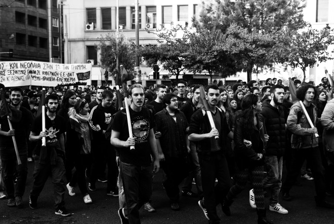 Images from the centre of Athens on the 17th of November 2014. In memory of the Polytechnic uprising in 1973