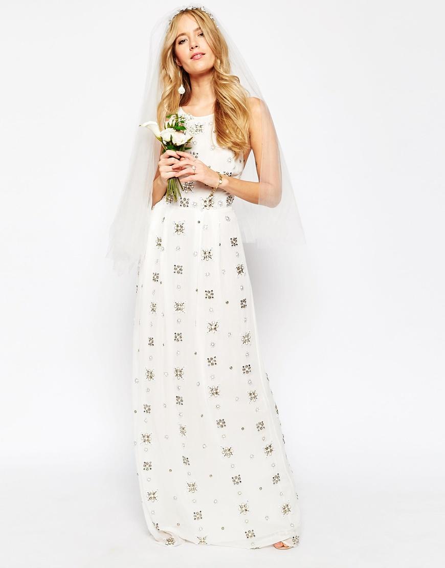 ASOS BRIDAL All Over Embellished Cami Maxi Dress HKD$ 1,874.97