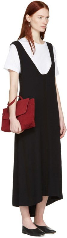 Mansur Gavriel Burgundy Suede Mini Lady Bag $638 USD