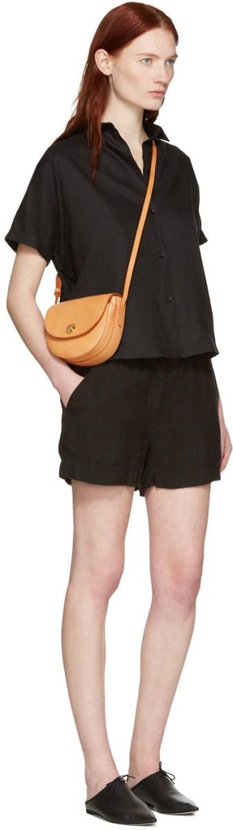 Mansur Gavriel Tan Mini Saddle Bag $476 USD