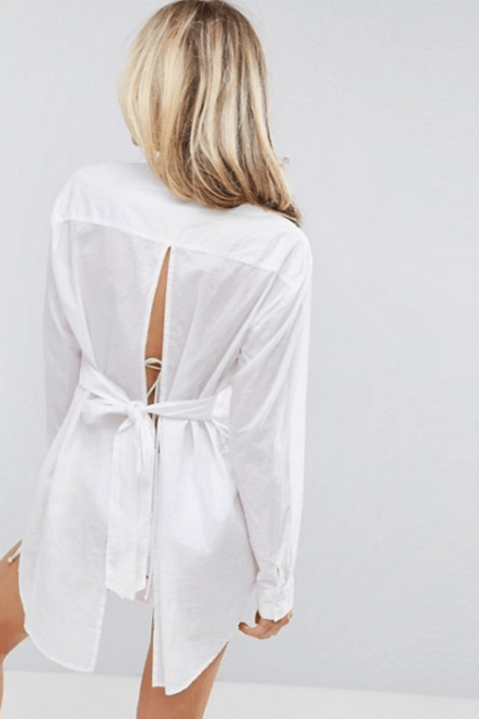 ASOS Beach Shirt with Open Tie Back £22 → £15.4