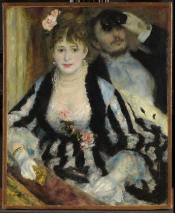 Pierre-Auguste Renoir, The Loge (Theatre Box), 1874.