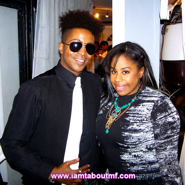 Tabou TMF aka Undefinable One & Fatiah Rebbekah at The Luxe Beauty Lounge Launch Party in Brooklyn NYC
