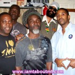 Eddie, Roland Burrell, Tabou TMF aka Undefinable One & Gumbai Culture in The Studio
