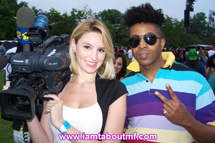 Tabou TMF aka Undefinable One & Magdalena Doris of News 12 at Orchard Beach