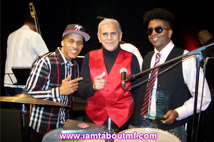 Dj Cool Clyde, Orlando Marin aka The Last Mambo King, Tabou TMF aka Undefinable One winner of Best Music Program Beta Award for producing Undefnable Vision