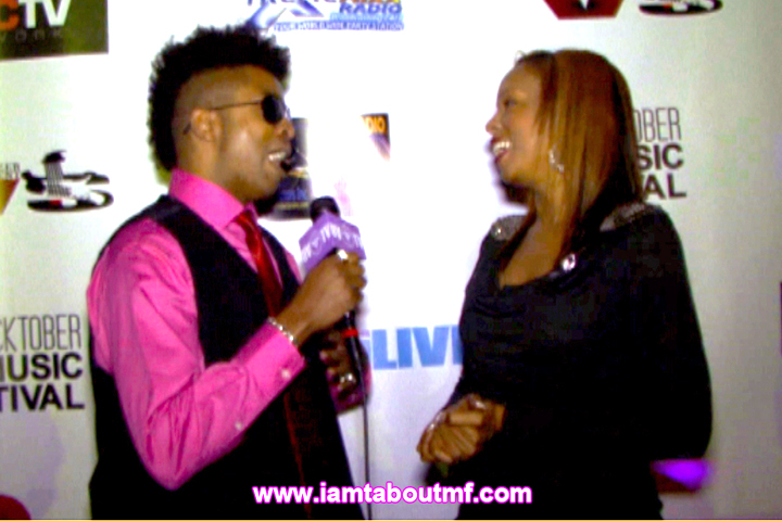 Tabou TMF aka Undefinable One and Rah Digga on The Red Carpet at Ocktoberfest