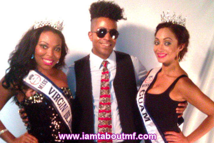 Miss Virgin Islands, Tabou TMF aka Undefinable One, Miss Guam at The Carlton Hotel Millesime Lounge NYFW