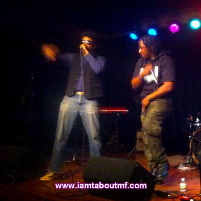 Tabou TMF aka Undefinable One & Path P Rocking the stage at Littlefield NYC for the ROCK4 Fender Music Foundation Benefit Concert