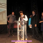 Tabou TMF aka Undefinable One accepting The Best Music Program 2014 BETA Award for producing Undefinable Vision