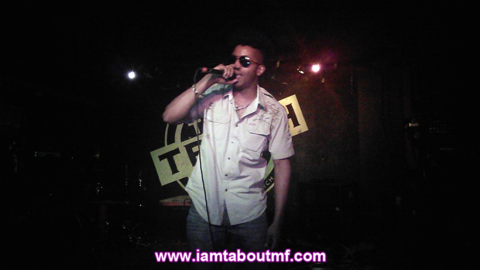 Tabou TMF aka Undefinable One performing at The Trash Bar in Brooklyn, New York