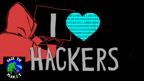 I heart hackers illustration