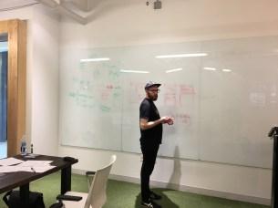 Kjell rocking the whiteboard