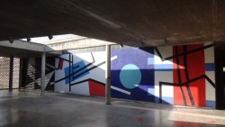 Mural de Mateo Manaure. Pared externa del hall de la Biblioteca Central. Ciudad Universitaria. Foto Juan Pérez Hernández. Cortesía Archivo Copred