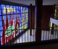 Vitral de Fernand Léger. Ciudad Universitaria. Foto Juan Pérez Hernández. Cortesía Archivo Copred