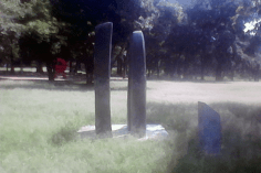 """Escultura """"Yin Yan IV"""" de Carlos Mendoza. Foto Carlos Crespo."""