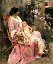 La joven madre