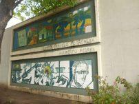 14 murales integran el deteriorado Mural de la Poesía. Foto Marinela Araque Rivero.