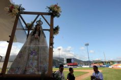 La Virgen del Valle, en la bendición de la Serie del Caribe de 2010. Foto: Carlos E. Ramírez