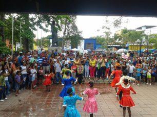 Danzas en honor a San Juan Bautista, junio de 2015.